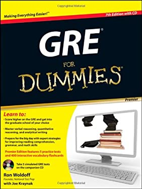 GRE for Dummies [With CDROM] 9780470889268