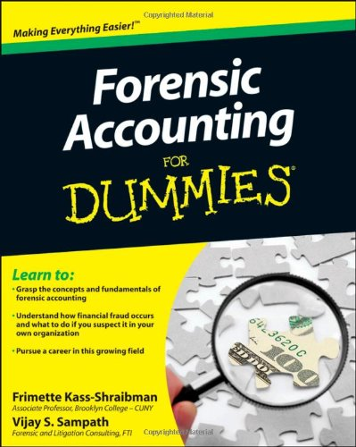 Forensic Accounting for Dummies 9780470889282