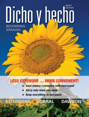 Dicho y Hecho, Binder Version: Beginning Spanish 9780470917824