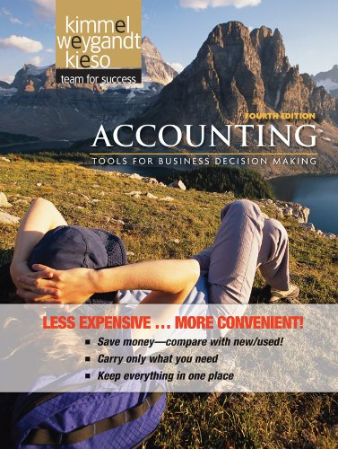 Accounting, Binder Version: Tools for Business Decision Making 9780470917886