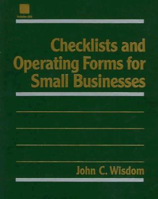 Checklists and Operating Forms for Small Businesses with Disk 9780471168768