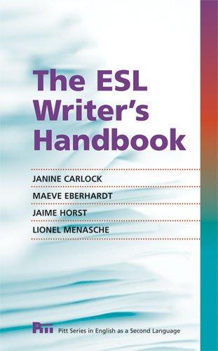 The ESL Writer's Handbook 9780472034031