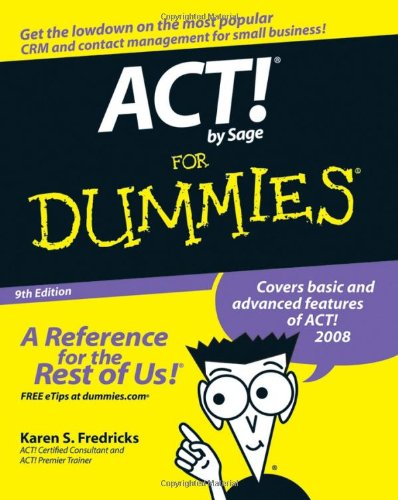 ACT! by Sage for Dummies 9780470192252