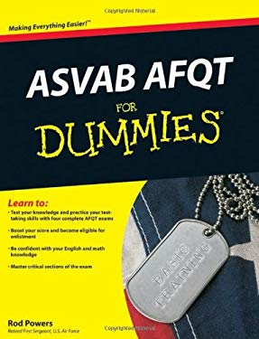 ASVAB AFQT for Dummies 9780470566527