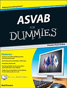 ASVAB for Dummies, Premier Edition [With CDROM] 9780470637616