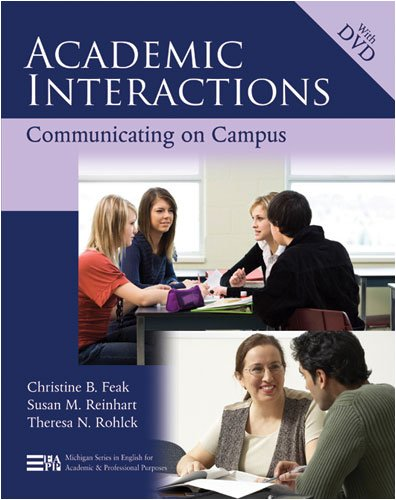 Academic Interactions: Communicating on Campus [With DVD] 9780472033324