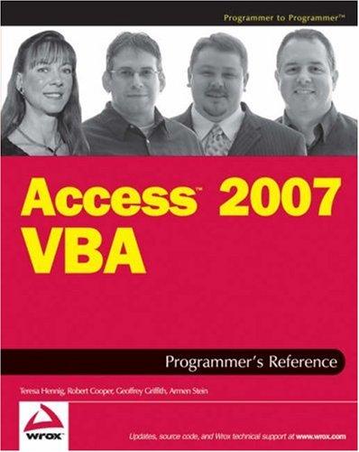 Access 2007 VBA Programmer's Reference 9780470047033