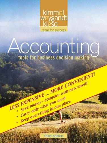 Accounting: Tools for Business Decision Making 9780470418338