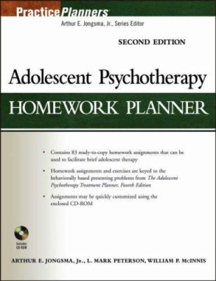 Adolescent Psychotherapy Homework Planner [With CD-ROM] 9780471785378