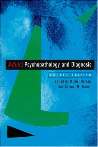 Adult Psychopathology and Diagnosis 9780471411635