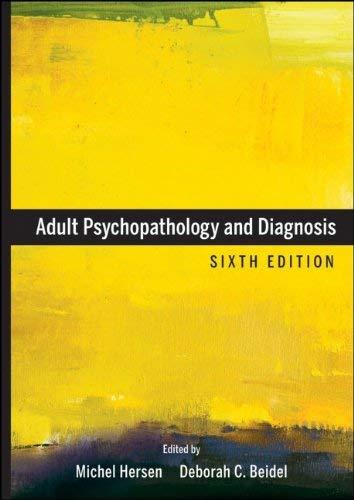 Adult Psychopathology and Diagnosis 9780470641941