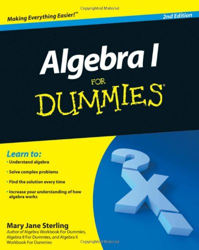 Algebra I for Dummies 9780470559642