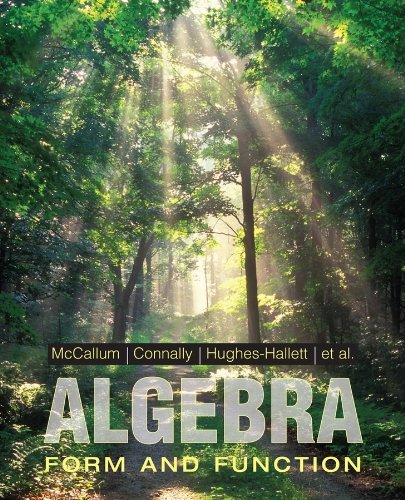 Algebra: Form and Function 9780471707080