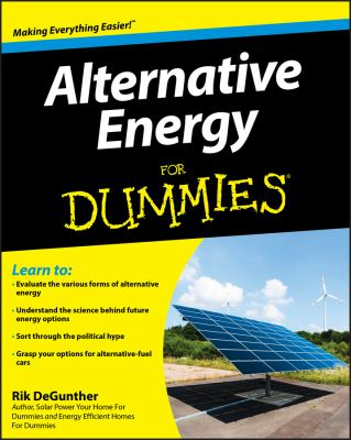 Alternative Energy for Dummies 9780470430620