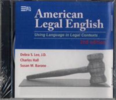American Legal English, Second Edition: Using Language in Legal Contexts 9780472003259