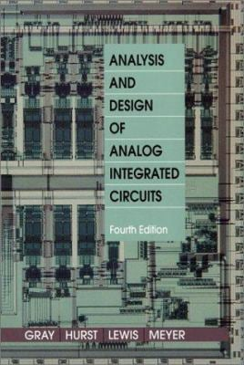 Analysis and Design of Analog Integrated Circuits 9780471321682