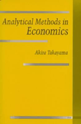 Analytical Methods in Economics 9780472081356