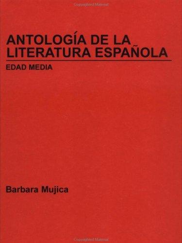 Antologa de La Literatura Espaola, Edad Media 9780471536932