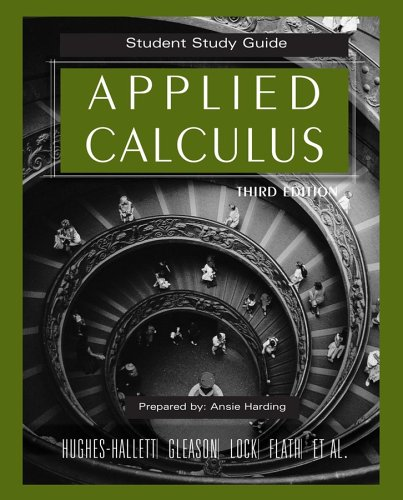 Applied Calculus: Student Study Guide 9780471739241