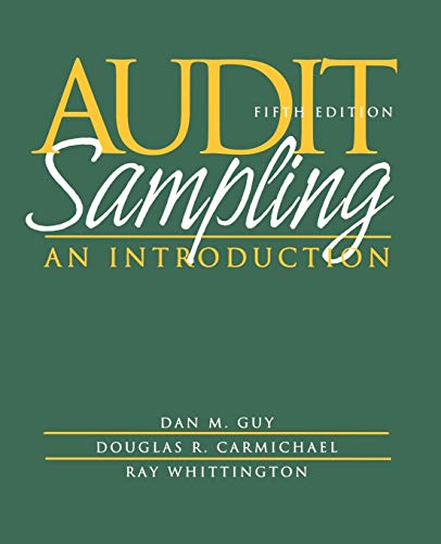 Audit Sampling: An Introduction 9780471375906