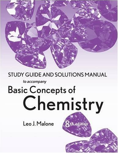 Basic Concepts of Chemistry, Student Study Guide 9780470087695