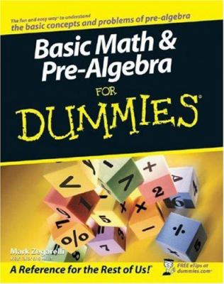 Basic Math & Pre-Algebra for Dummies 9780470135372