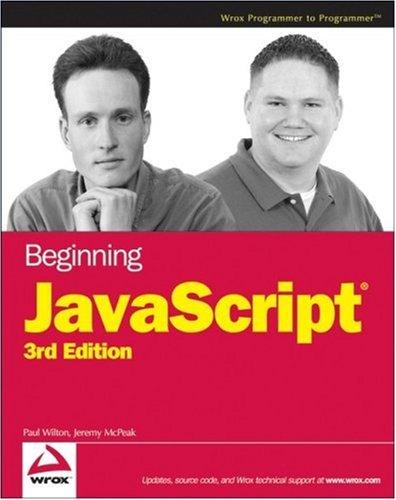 Beginning JavaScript 9780470051511