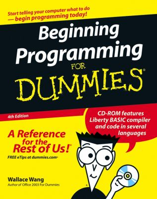 Beginning Programming for Dummies [With CDROM] 9780470088708