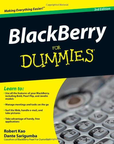 BlackBerry for Dummies 9780470457627