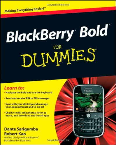 Blackberry Bold for Dummies 9780470525401