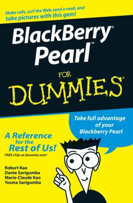 Blackberry Pearl for Dummies 9780470128930