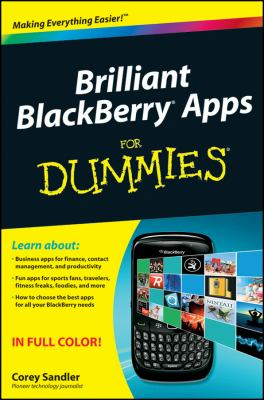 Brilliant Blackberry Apps for Dummies 9780470903025