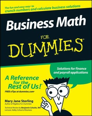 Business Math for Dummies 9780470233313