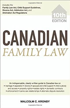 Canadian Family Law 9780470736821