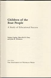 Children of the Boat People: A Study of Educational Success 1588868