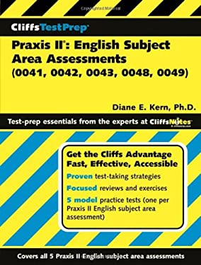 CliffsTestPrep Praxis II: English Subject Area Assessments (0041, 0042, 0043, 0048, 0049) 9780471785064