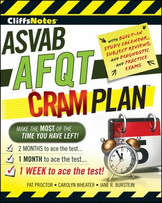 CliffsNotes ASVAB AFQT Cram Plan 9780470598894