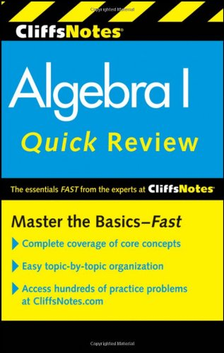 CliffsNotes Algebra I Quick Review 9780470880289