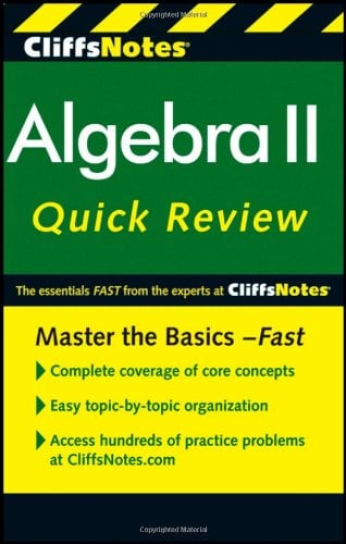 Cliffsnotes Algebra II Quickreview 9780470876343