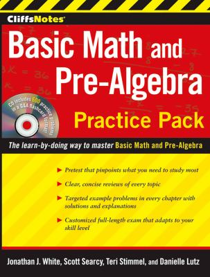 CliffsNotes Basic Math and Pre-Algebra Practice Pack [With CDROM] 9780470533499