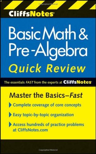 CliffsNotes Basic Math & Pre-Algebra Quick Review