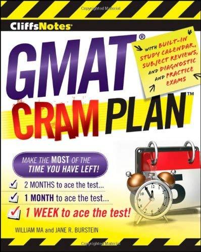 Cliffsnotes GMAT Cram Plan 9780470471883