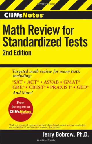 CliffsNotes Math Review for Standardized Tests 9780470500774