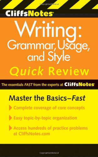 Cliffsnotes Writing: Grammar, Usage, and Style Quick Review 9780470880784