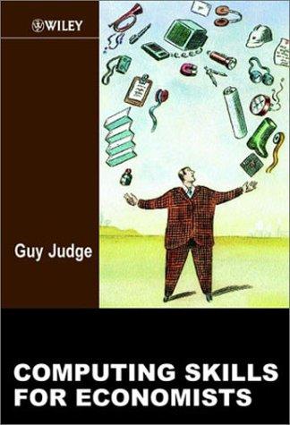 Computing Skills for Economists 9780471988069