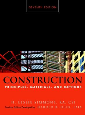 Construction: Principles, Materials, and Methods 9780471356400