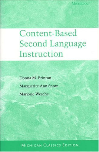 Content-Based Second Language Instruction 9780472089178