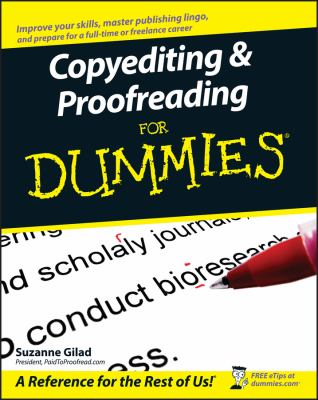 Copyediting & Proofreading for Dummies 9780470121719