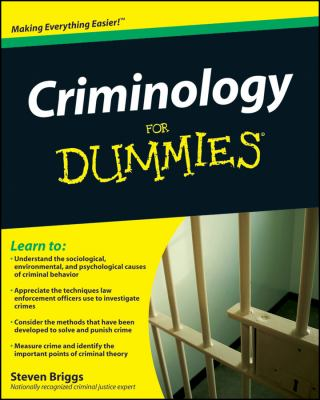 Criminology for Dummies 9780470396964