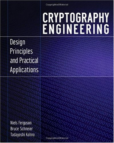 Cryptography Engineering: Design Principles and Practical Applications 9780470474242